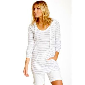 Standard James Perse Terry Striped Hooded Pullover